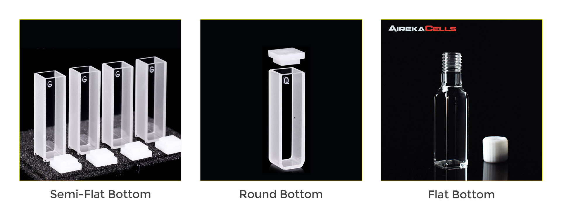 Different Types of Cuvette Bottoms