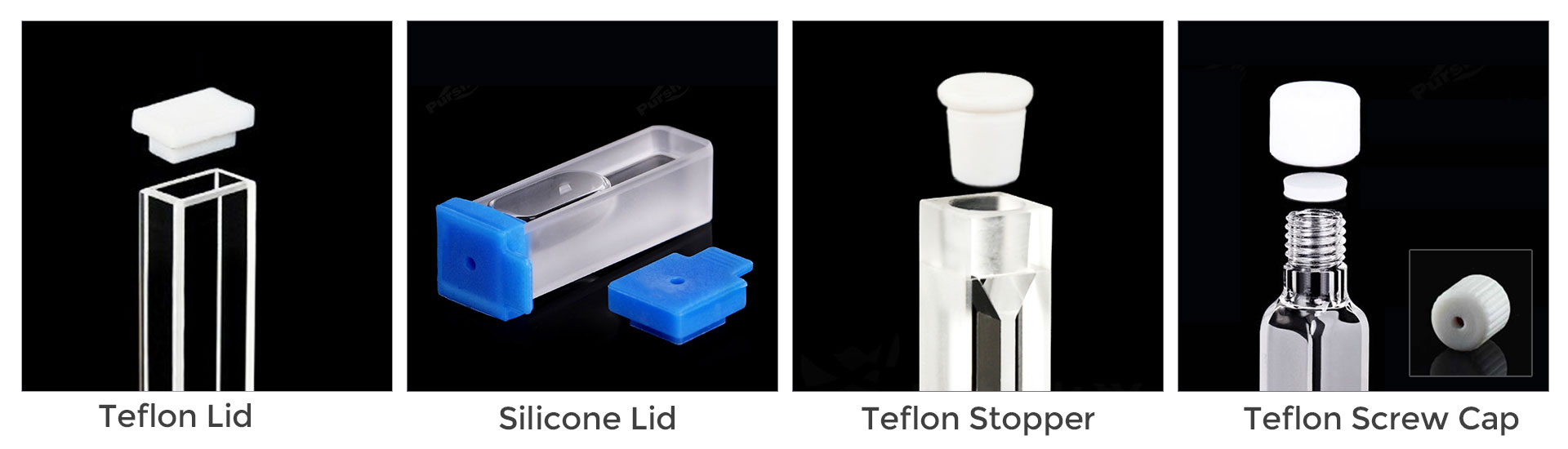 Different Cuvette Caps for Various Sealing Requirements