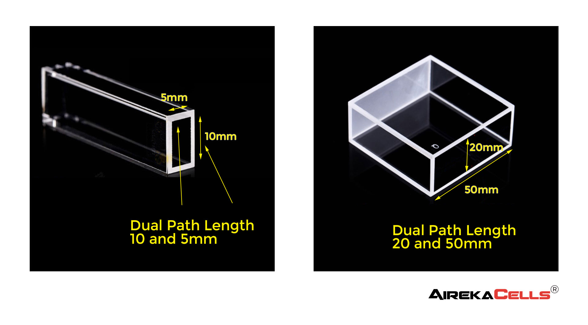 Dual Path Length Cuvette Examples