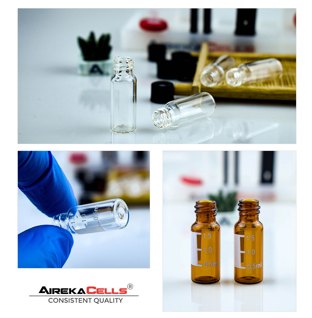 2ml amber screw HPLC vial