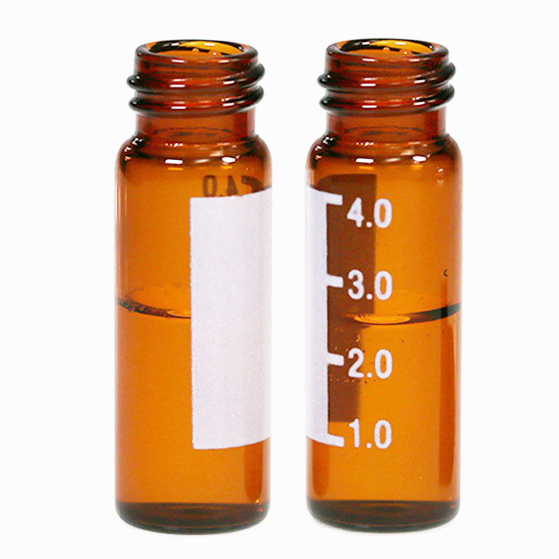 4ml amber autosampler vial with write on spot