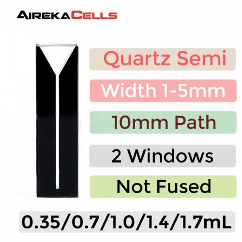 QG10124-2, Glued Semi Black Quartz Cuvette