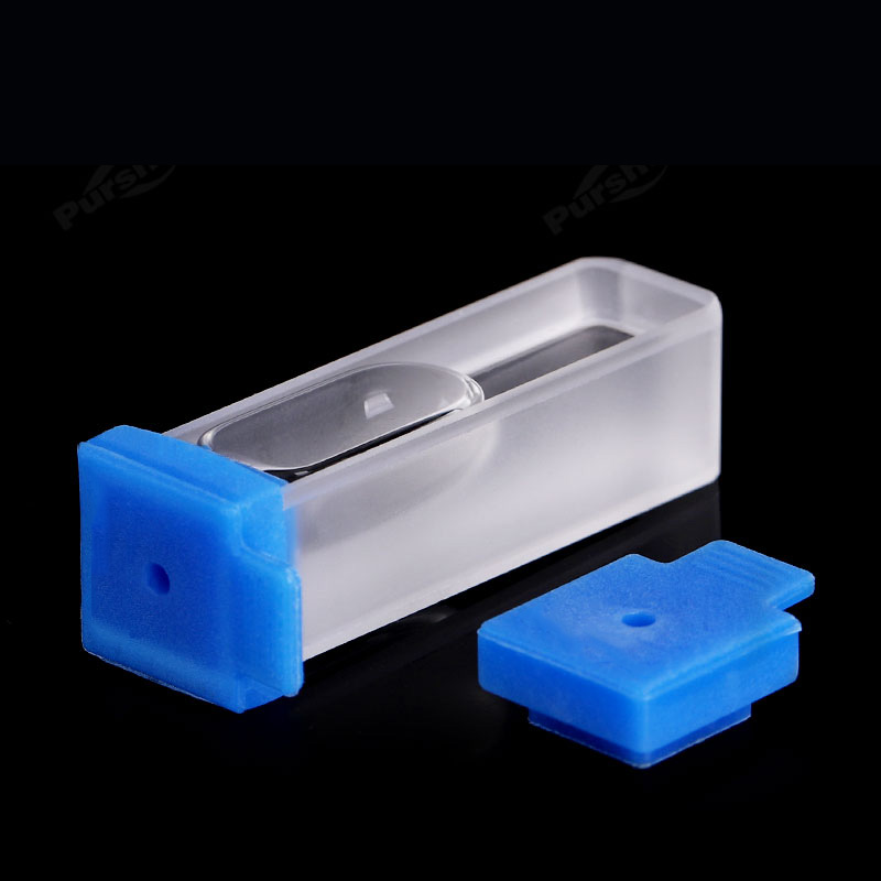 Silicone Cap with Center Hole Cuvette