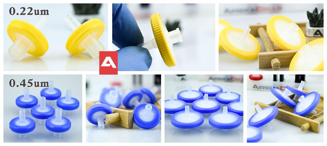MCE syringe filters 0.22 0.45um 13/25mm
